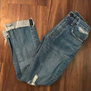 "Rag & Bone Distressed ""Mom-Boyfriend"" Jeans"